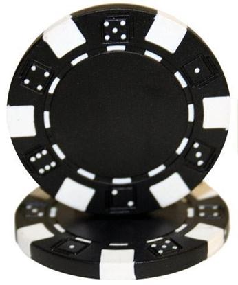 "Image de Jeton de poker ""Dice"" 11.5gr (Vrac) - Noir"