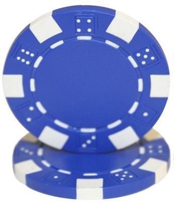 """Image de Jeton de poker """"Dice"""" 11.5gr (Vrac) - Bleu"""