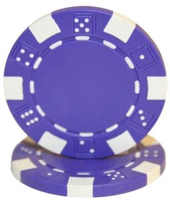 "Image de Jeton de poker ""Dice"" 11.5gr (Vrac) - Mauve"