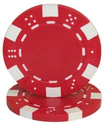 """Image de Jeton de poker """"Dice"""" 11.5gr (Vrac) - Rouge"""