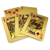 Image sur 10040 - Decorative golden plated playing card 24K with wooden box
